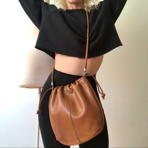 Vintage BOTTEGA VENETA Crossbody Cinch Bag 1980's